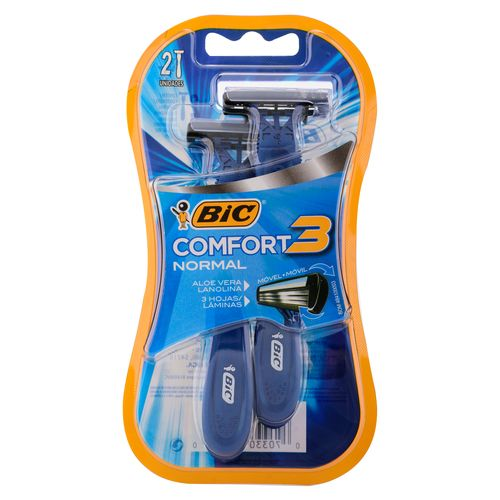Rasuradora Bic Comfort 3 Hojas Normal - 2 unidades