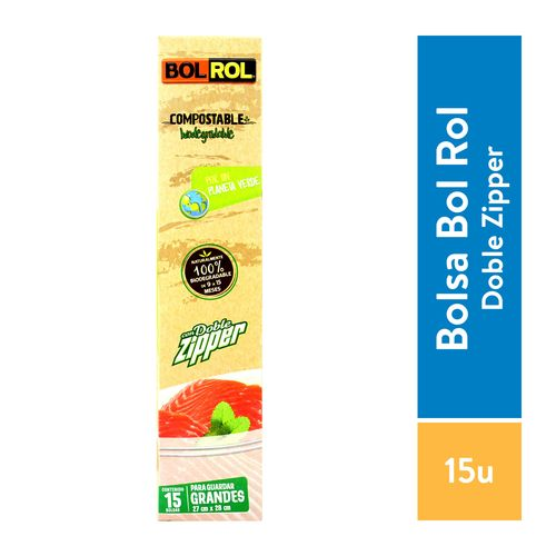 Bolsa Bolrol Para Alimento Compostable - 15 Piezas