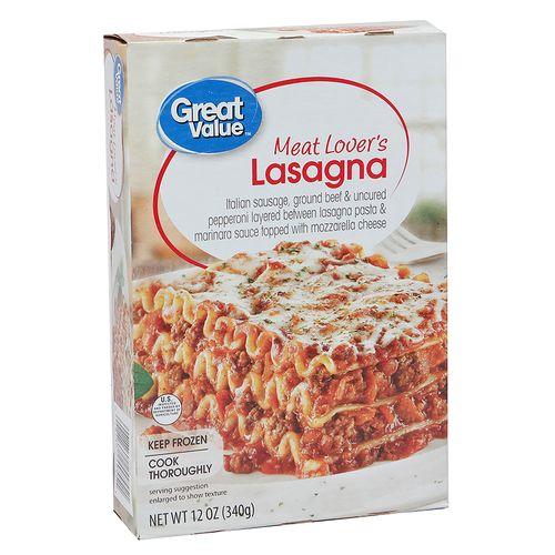 Lasagna Great Value Carnes - 340gr