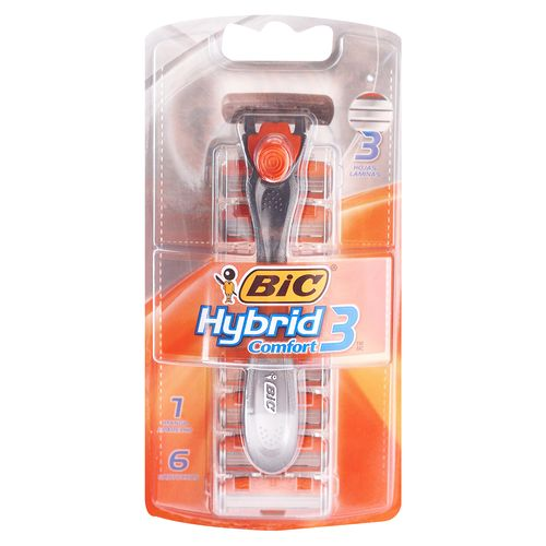 Rasuradora Bic Comfort Hybrid 3 Hojas - 6 Unidades