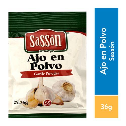 Especia Sasson Ajo Polvo Puro Sobre - 36gr