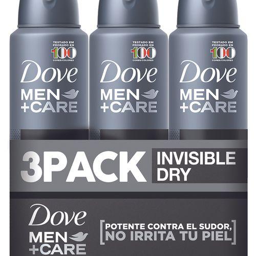 3 Pack Desodorante Dove Spray Men Invisible- 453ml