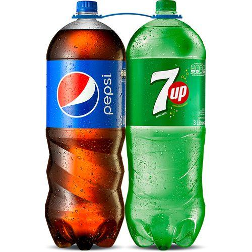 2 Pack Gaseosa Pepsi Y 7Up - 6000ml