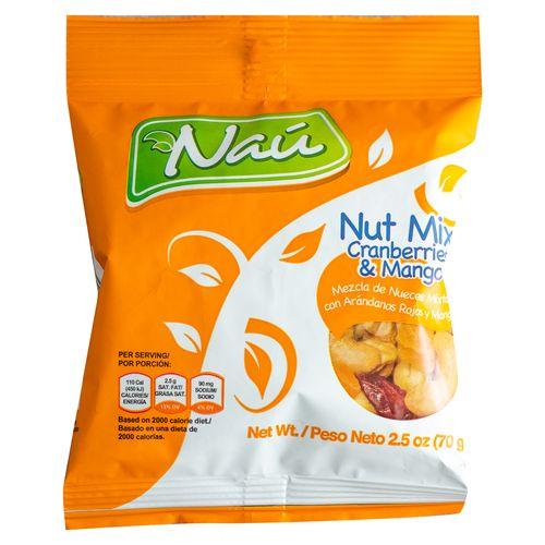 Mix Nau Nueces Arandano Y Mango 70 Gr