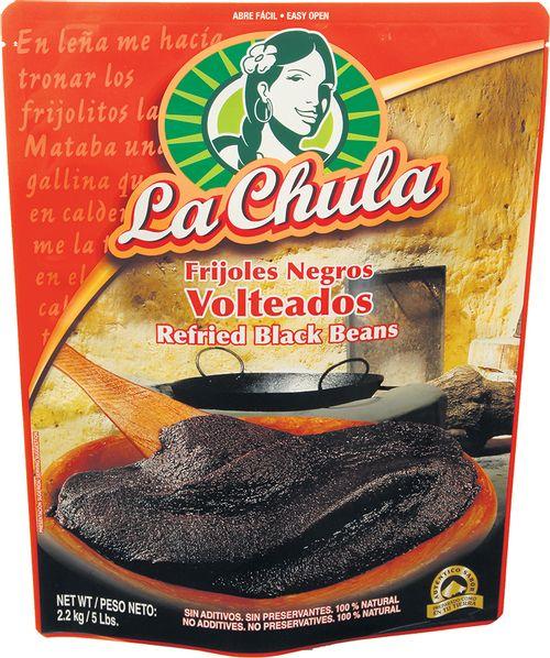 Frijoles La Chula Negros Volteado - 2268gr