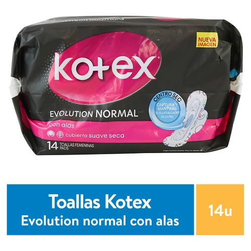 Toalla San Kotex Evolut Normal - 14 unidades