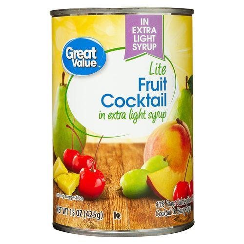 Coctel Fruta Great Value Extra Light - 425gr