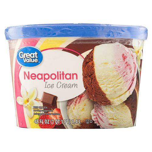 Helado Great Value Napolitano 1400Gr