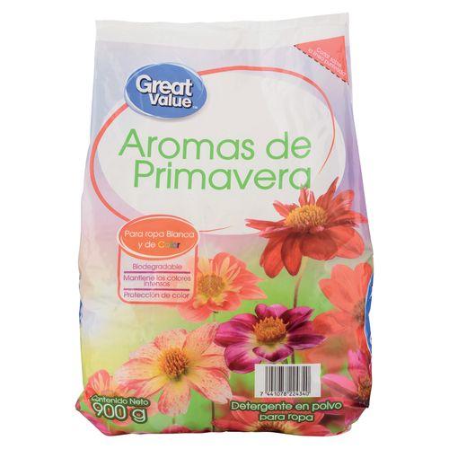 Detergente Great Value Primavera 900Gr