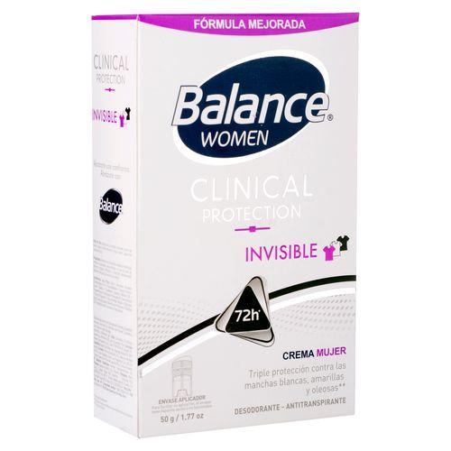 Desodor Balance Clin Crema Invs Muj 50Gr
