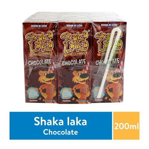 12 Pack Bebida Shaka Laka Sabor Chocolate - 200ml