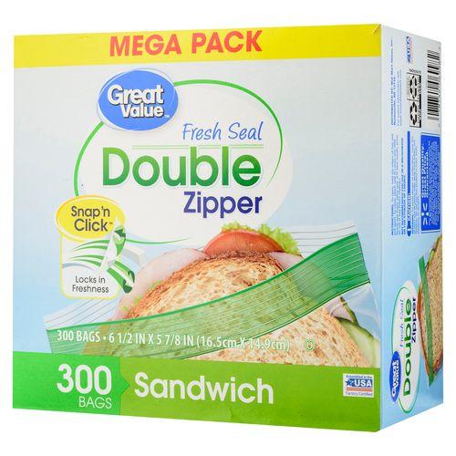 Bolsa Great Value Alimento Sandwich 300U