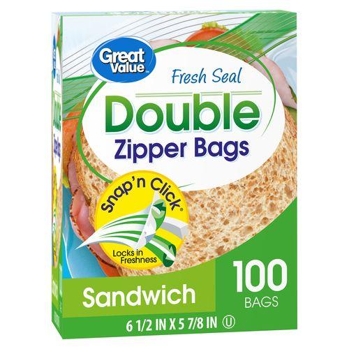 Bolsa Great Value Alimento Sandwich - 100unidades