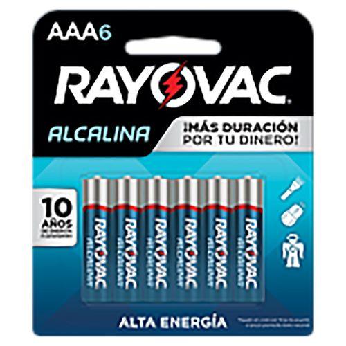 Batería Rayovac Alcalina AAA - 6 Unidades