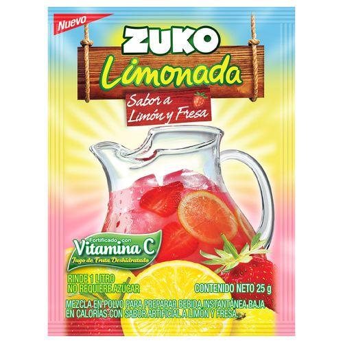 Bebida Zuko En Polvo Limonada Fresa - 25gr
