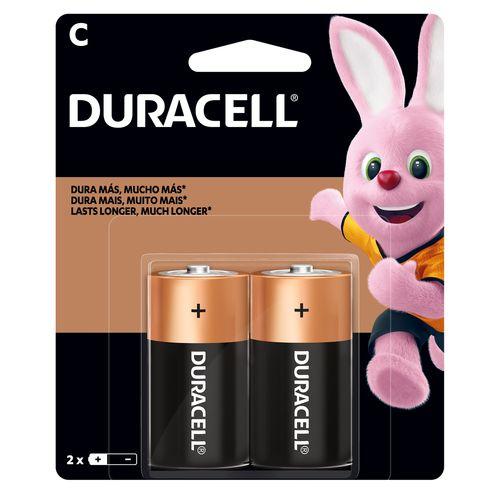 Bateria Duracell Alcalina C - 2 unidades