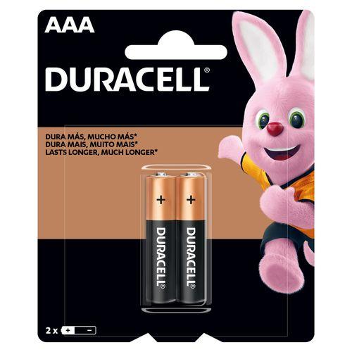 Bateria Duracell Alcalina AAA - 2 unidades