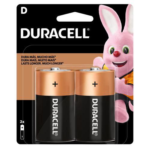 Bateria Duracell Alcalina Grande D - 2 Unidades