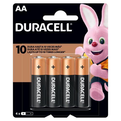 Bateria Duracell Alcalina AA Basico - 4 Unidades