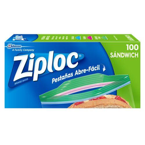 Bolsa Ziploc Para Alimento Sandwich Caja - 100 Unidades