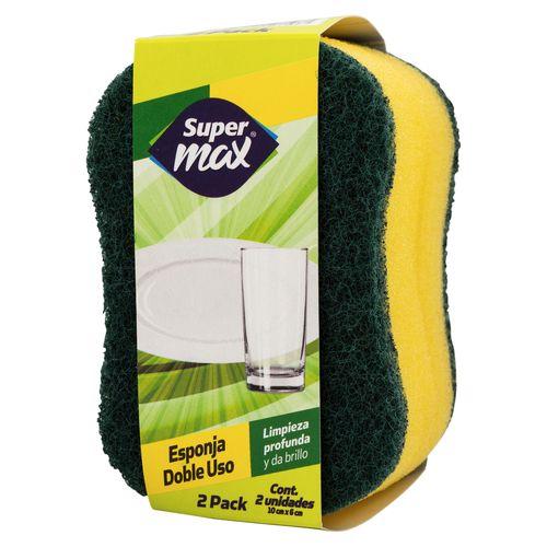 Esponja Supermax Doble Uso 2 Unidades