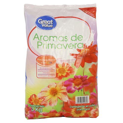 Detergente Great Value Primavera 3000Gr