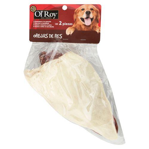 Orejas De Res Ol Roy Para Perro - 2 Piezas