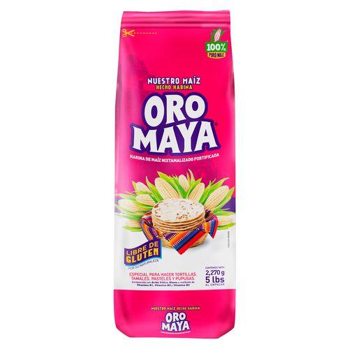 Harina de Maiz Oro Maya blanco - 2268gr