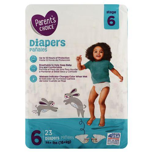 Pañal Parents Choice Baby Diaper Size 6 Jumbo - 23 Unidades