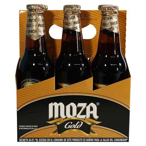6 Pack Cerveza Moza Gold Botella - 2100ml
