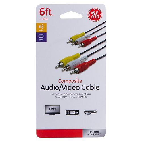 Cable Ge Av 3Rca A 3Rca 6Ft 33608
